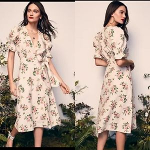 HAPPYxNATURE - NWT Floral Wrap Midi Dress